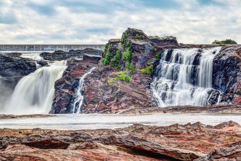 Chutes de la Chaudiere in Levis, Quebec, Canada. Chutes-de-la-Chaudiere or Chaudiere Falls are 35-meter high waterfalls in Levis, Quebec, that are the last and stock photos