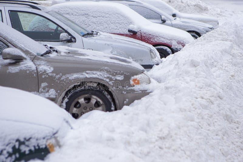 Chutes de neige européennes photo stock