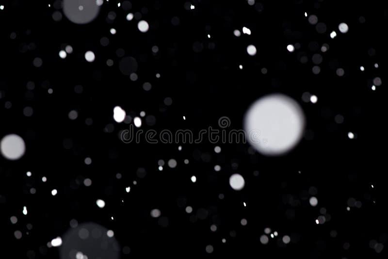 Chutes de neige réelles Modèle de conception pour recouvrir l'image et pour créer un effet de chutes de neige images libres de droits