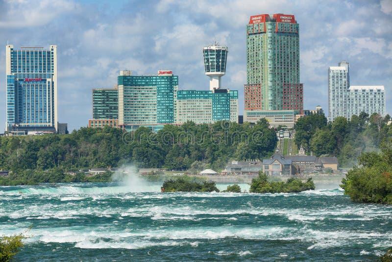 Chutes du Niagara, †des Etats-Unis «le 29 août 2018 : Belle vue de Niagar photographie stock