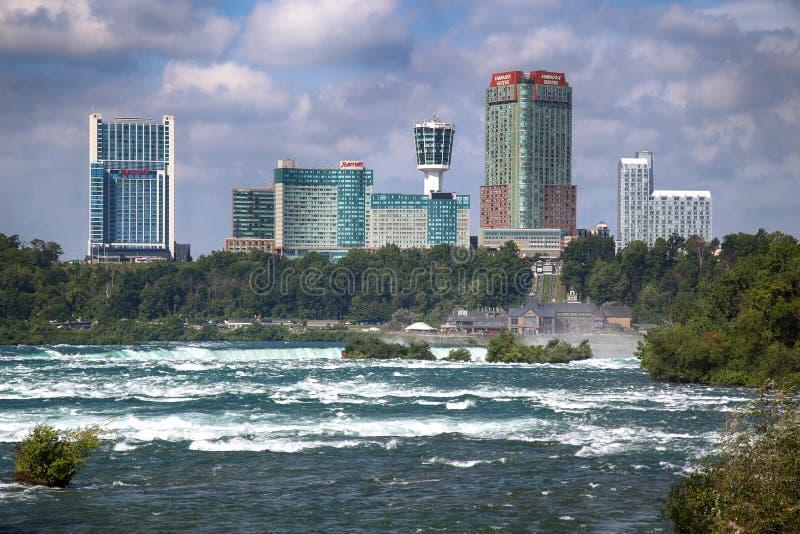 Chutes du Niagara, †des Etats-Unis «le 29 août 2018 : Belle vue de Niagar photos libres de droits