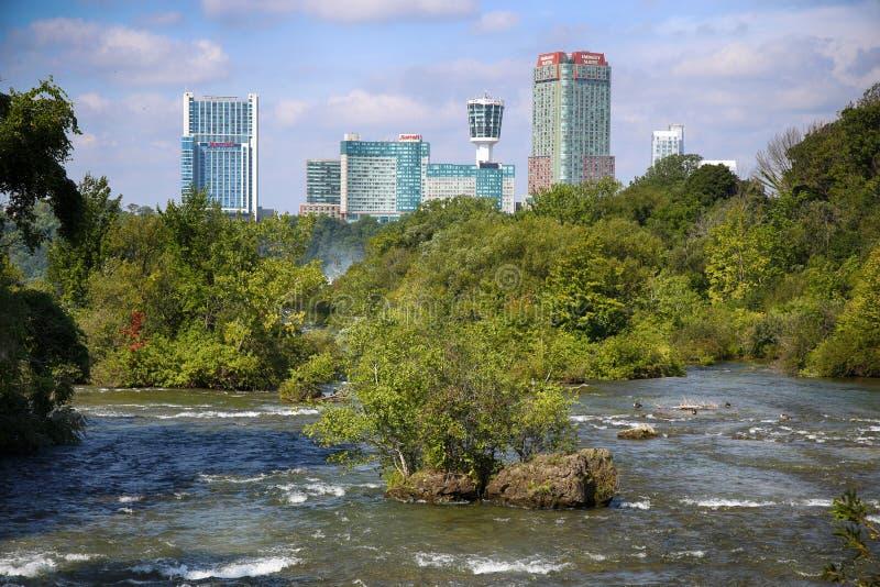 Chutes du Niagara, †des Etats-Unis «le 29 août 2018 : Belle vue de Niagar images libres de droits