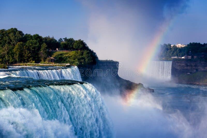 Chutes du Niagara de vue de paysage des Etats-Unis photographie stock libre de droits