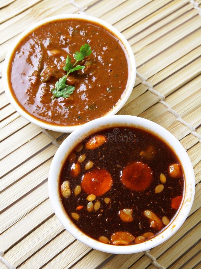 Chutney piccante indiano fotografia stock