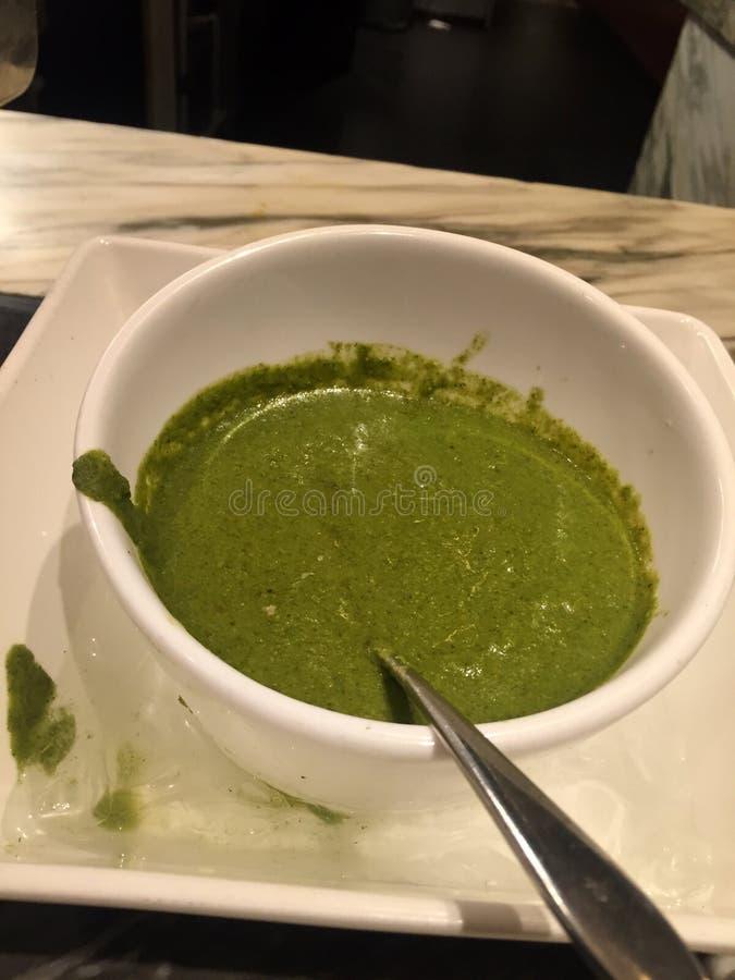 Chutney vert photo libre de droits