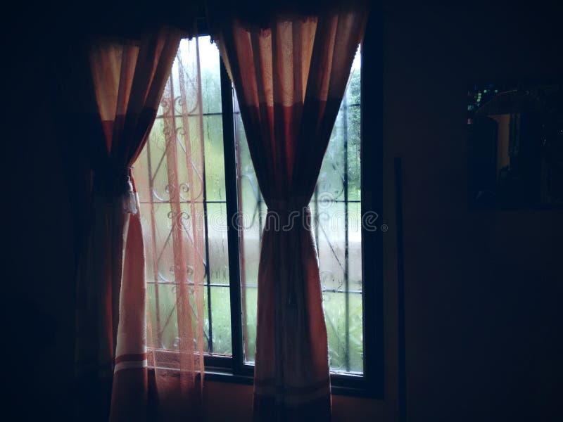 Chuva da janela foto de stock