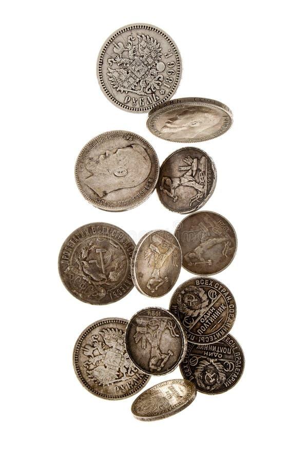 A chuva das moedas foto de stock royalty free