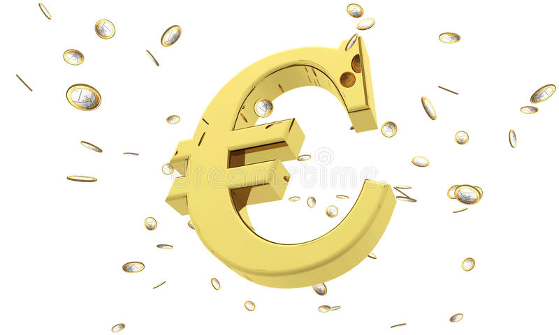 Chuva do Euro ilustração do vetor