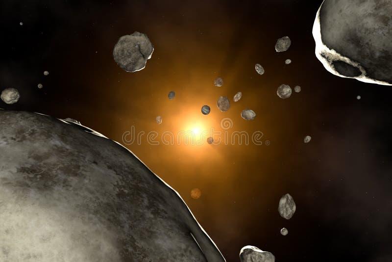 Chuva do meteoro ilustração do vetor