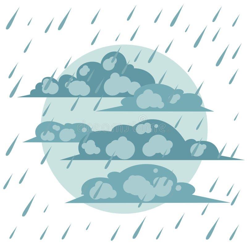 A chuva do outono ilustração royalty free