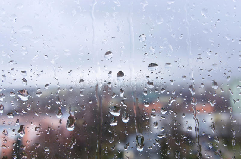 Chuva em um fundo da janela foto de stock royalty free