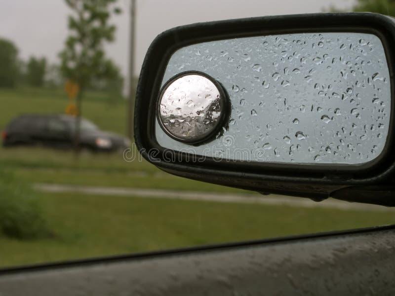 Chuva no espelho de carro 19 fotos de stock royalty free