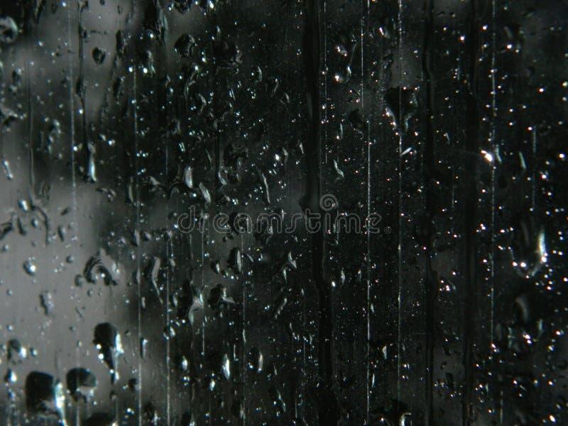 Chuva no vidro imagens de stock royalty free
