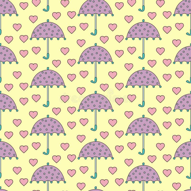 Chuva romântica ilustração do vetor