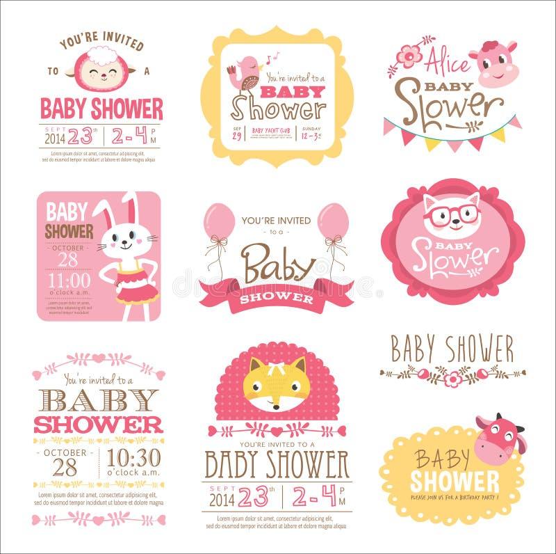 Chuveiro de bebê ilustração royalty free
