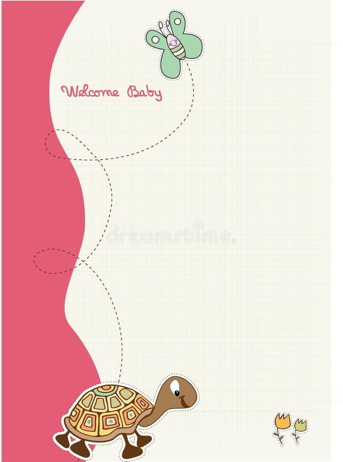 Chuveiro de bebê e cartão do anúncio ilustração royalty free