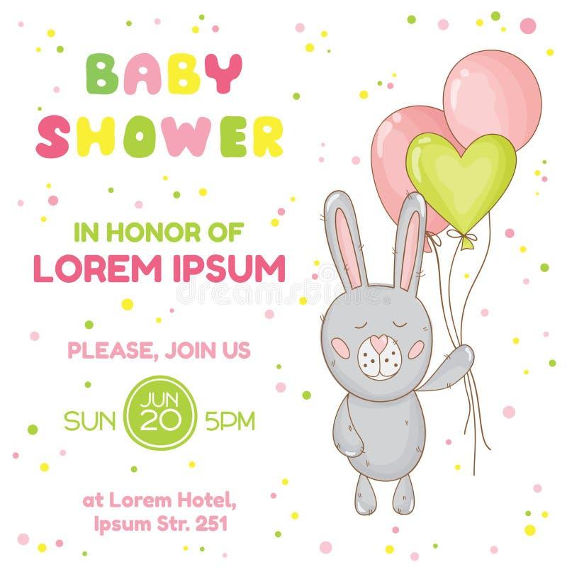 Chuveiro de bebê ou cartão de chegada ilustração stock