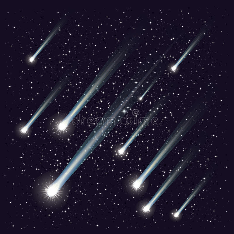 Chuveiro de meteoro ilustração royalty free