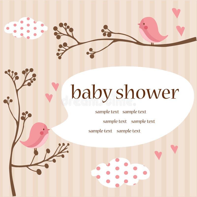 Chuveiro do bebé ilustração royalty free
