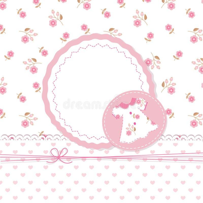 Chuveiro do bebé com vestido ilustração stock