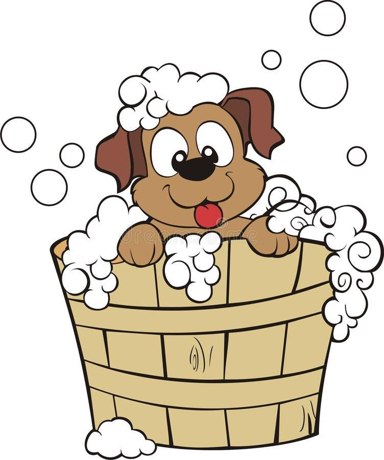 Chuveiro do filhote de cachorro imagem de stock