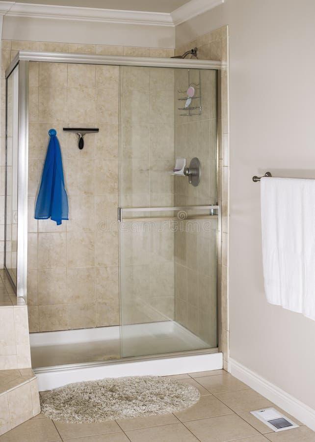Chuveiro mestre do banheiro imagem de stock