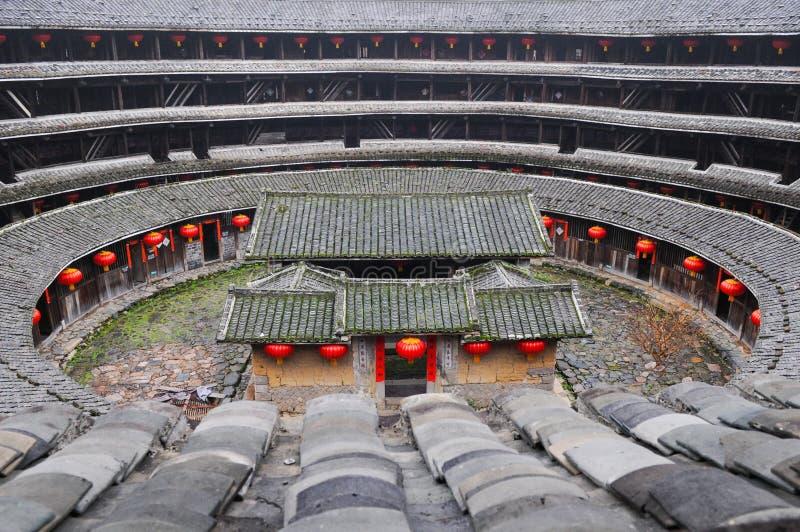 Chuxi tulou building in Fujian, China. Earth Towers of the Hakkas royalty free stock photos