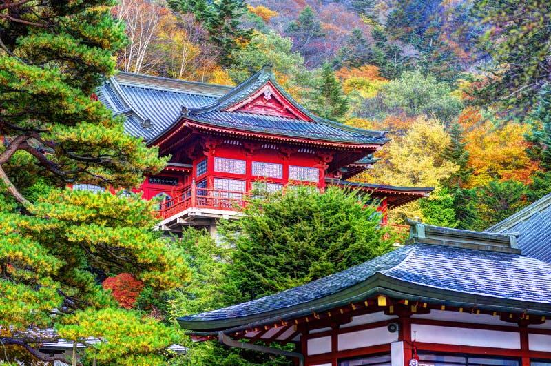 Chuzen-ji tempel royaltyfria foton