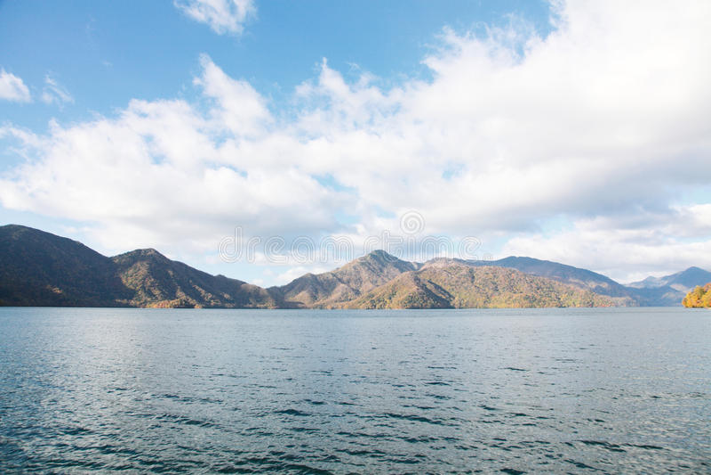 Chuzenji lake. Landscape of Chuzenji lake in Japan stock photography