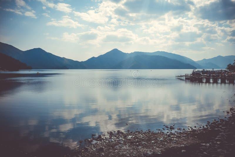 Chuzenji lake, Nikko, Japan. Chuzenji lake landscape in Nikko National Park, Japan stock photography