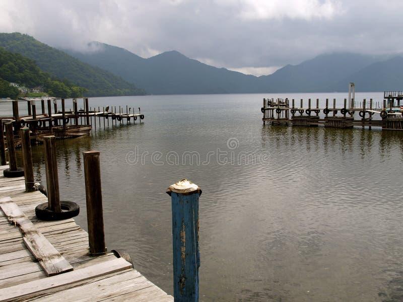 Chuzenji lake. Pier in Chuzenji lake (Japan stock image
