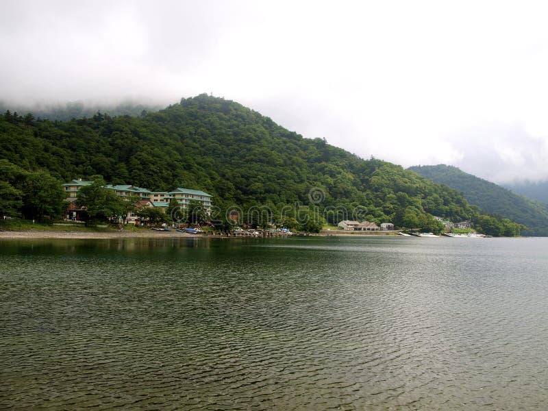 Chuzenji lake. Pier in Chuzenji lake (Japan stock photo