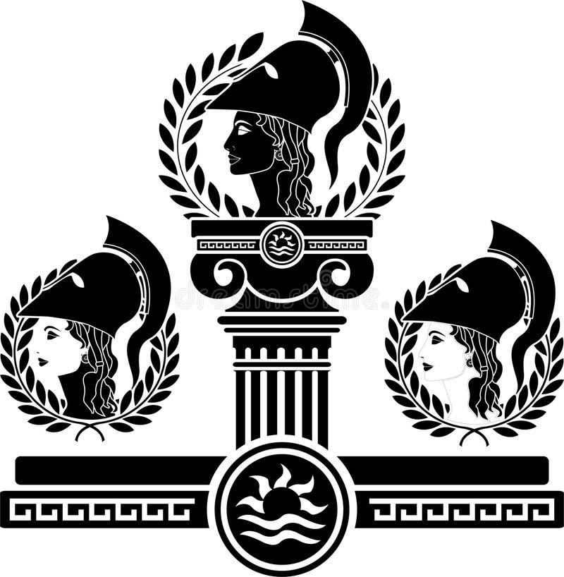 Chwała Athena royalty ilustracja