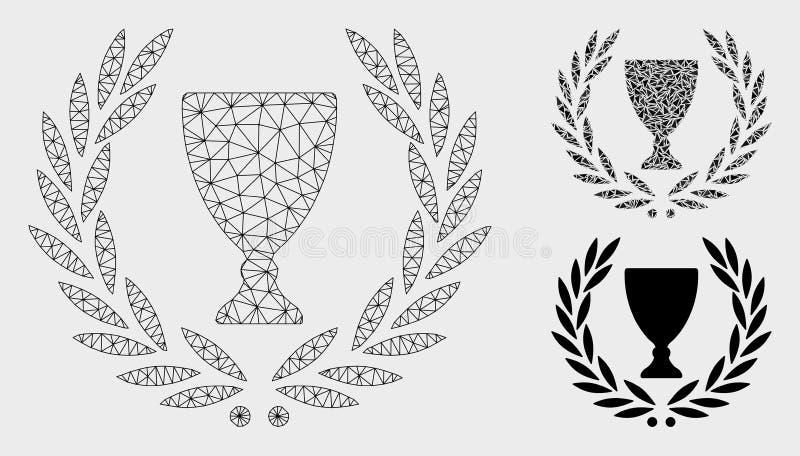 Chwała wianku siatki ścierwa trójboka i modela mozaiki Wektorowa ikona royalty ilustracja