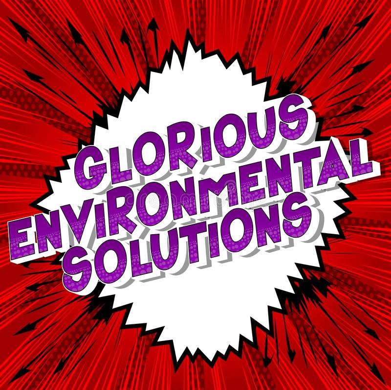 Chwalebnie Środowiskowi rozwiązania - komiksu stylu słowa royalty ilustracja