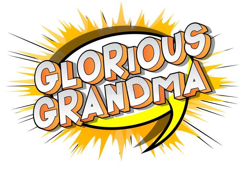 Chwalebnie babcia - komiksu stylu słowa ilustracji