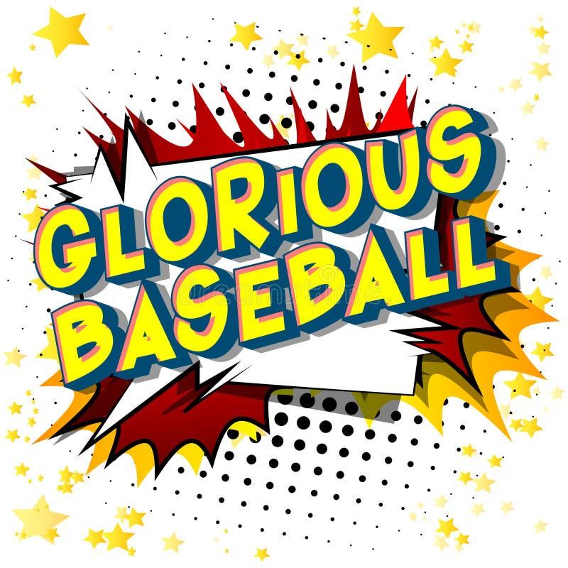 Chwalebnie baseball - komiksu stylu słowa ilustracja wektor