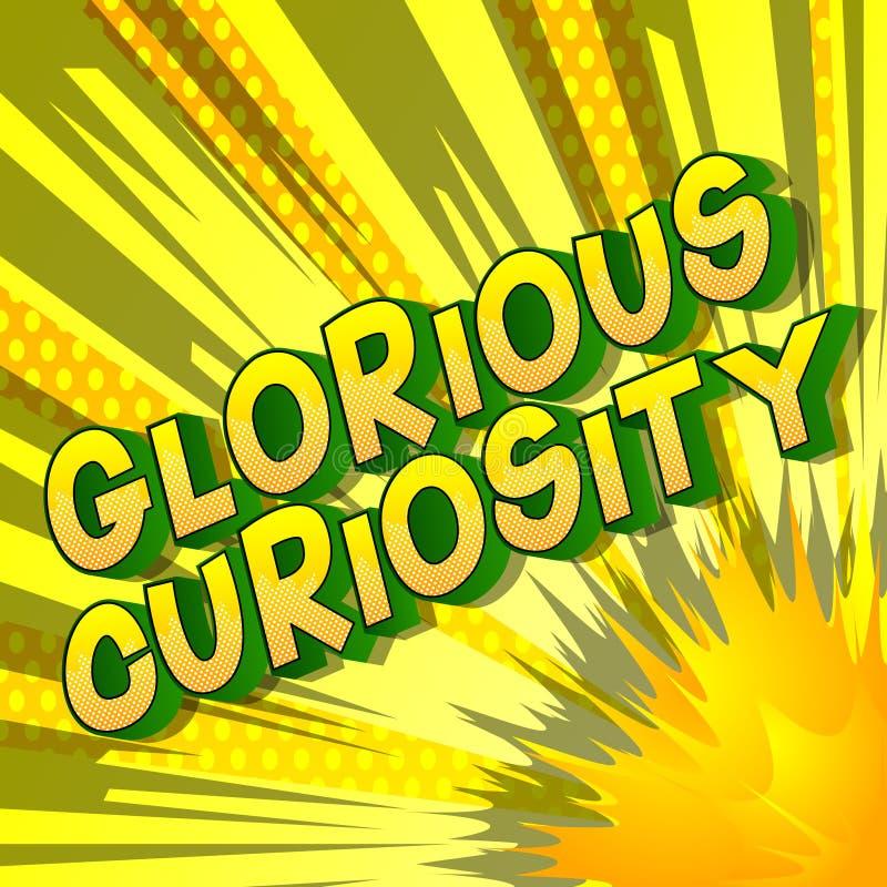 Chwalebnie ciekawość - komiksu stylu słowa royalty ilustracja