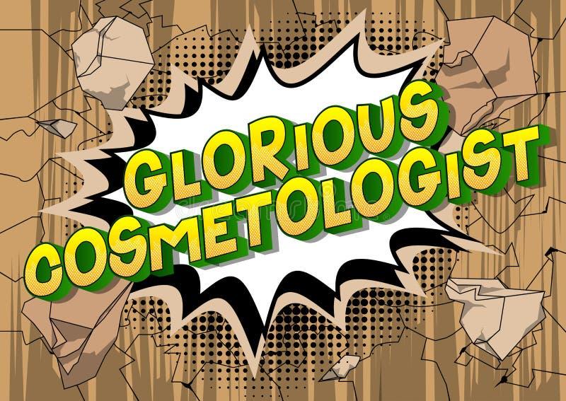 Chwalebnie Cosmetologist - komiksu stylu słowa ilustracji