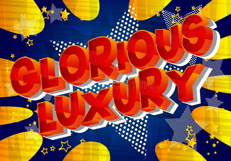 Chwalebnie luksus - komiksu stylu słowa ilustracji