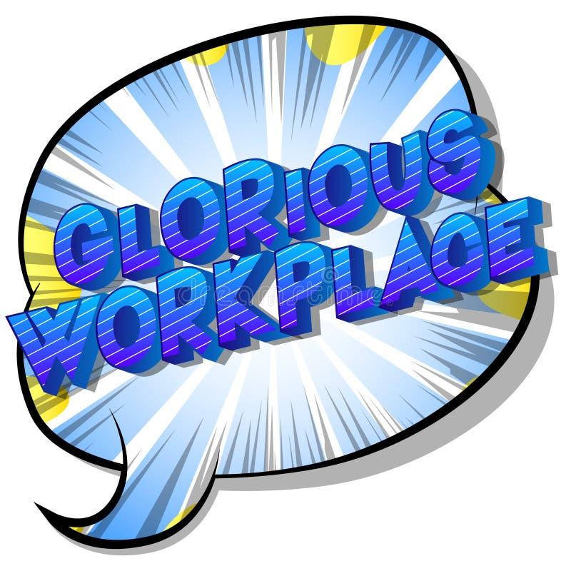 Chwalebnie miejsce pracy - komiksu stylu słowa ilustracji