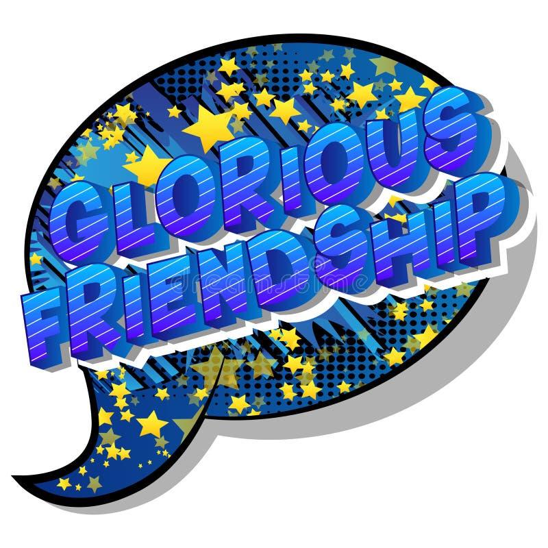 Chwalebnie przyjaźń - komiksu stylu zwrot ilustracja wektor