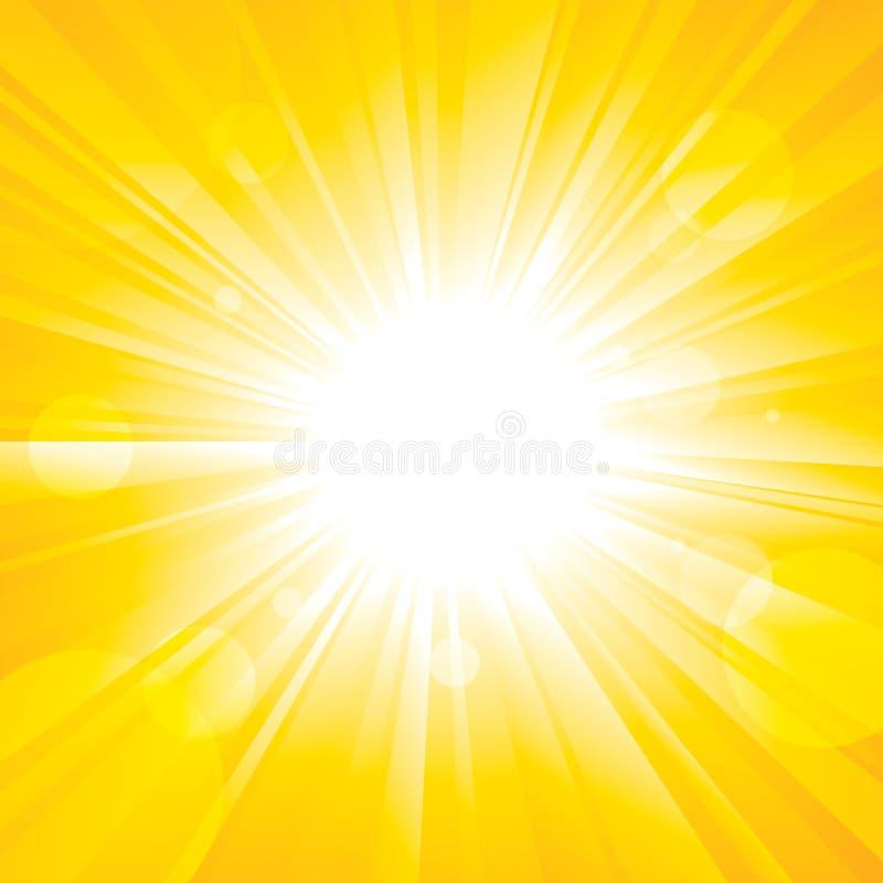 Chwalebnie Słońce ilustracja wektor
