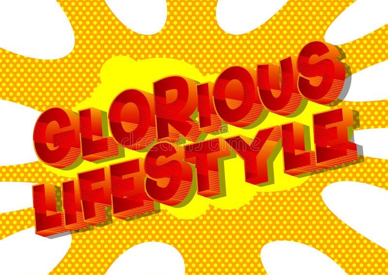 Chwalebnie styl życia - komiksu stylu słowa royalty ilustracja