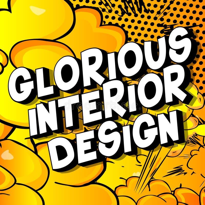 Chwalebnie Wewnętrzny projekt - komiksu stylu słowa ilustracja wektor