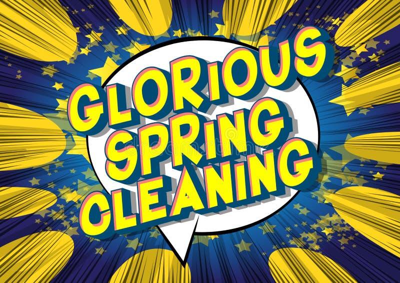 Chwalebnie wiosna Czyści - komiksu stylu słowa ilustracja wektor