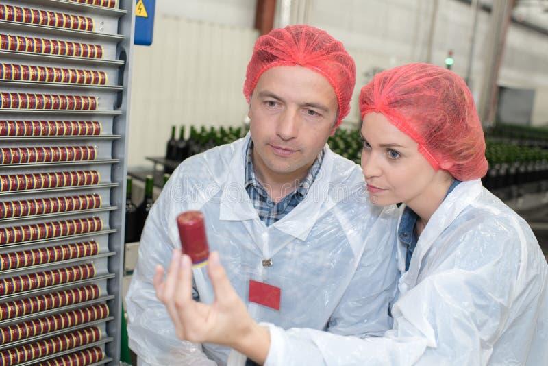 Chwalebny producent wina pokazuje specjalistycznemu sprzętowi na winnicy obraz royalty free