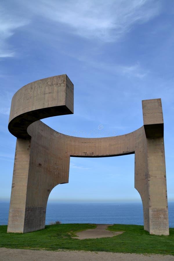 Chwalenie horyzont w Gijon, Hiszpania zdjęcia stock