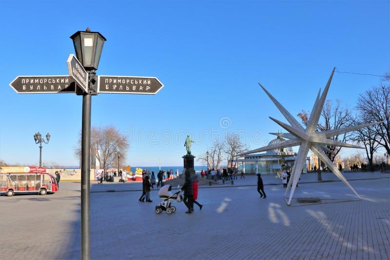 Chwilowa wystawa artystyczna praca Lokalizować obok Potemkin schodków zdjęcie royalty free