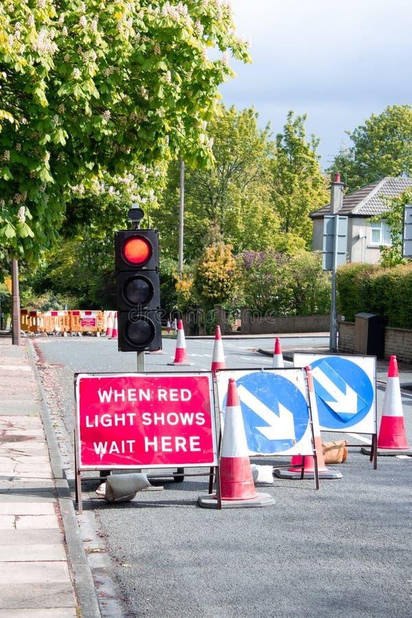 Chwilowe sygnalizacje drogowe zdjęcie stock
